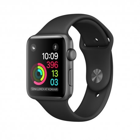 Apple - Watch series 2 caja de 38 mm de aluminio en gris espacial y correa deportiva negra