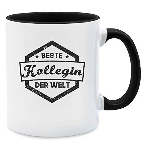 Statement Tasse - Beste Kollegin der Welt Tasse - Unisize - Schwarz - Q9061 - Kaffee-Tasse inkl. Geschenk-Verpackung