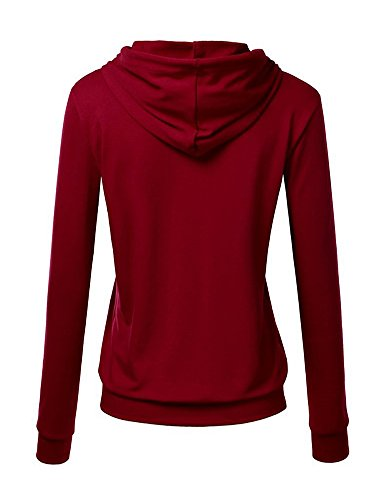 Pullover Pull Chemise Hoodie Sweatshirt Tops Manches Longues Win Rouge