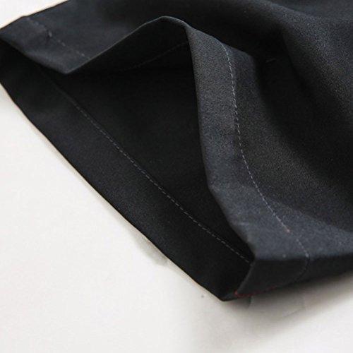 Zhhlaixing Uomo sportivo Pantaloni Men's Lightweight Quick Drying Breathable Waterproof Hiking Camping Pants Trousers Sportswear Black