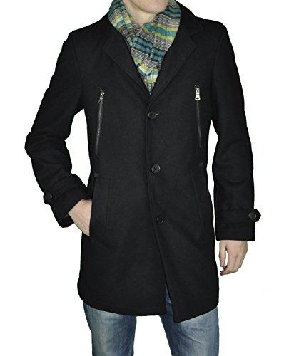 Modischer Herren Woll Mantel in Schwarz, John Harris (Art. Nr.: 43262), Größe:26;Farbe:schwarz