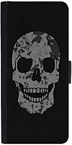 Snoogg Skull Graphic Snap On Hard Back Leather + Pc Flip Cover Samsung Galaxy S3