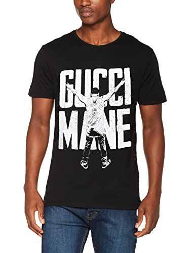 Merch code uomo gucci mane victory tee maglietta, uomo, gucci mane victory tee, black, m