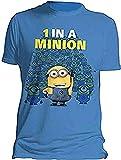 Ich - Einfach unverbesserlich (Minions) - 1 in a Minion - Offizielles Herren T-Shirt - Blau, Small