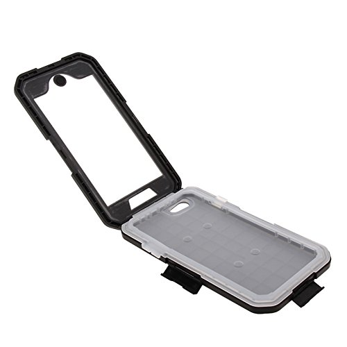 BING Für IPhone 6 Plus / 6s Plus, IPX8 wasserdicht Touch Sensible Screen Case mit Fahrradhalter & Lanyard BING ( Color : White ) Black