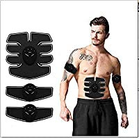 EWORLD® Health & Fitness Abdominal Muscle Toner,ABS Fitness Belt Electronic Stimulator Waist Trimmer Slim Flat And Stomach Workout Toning Massager Trainer Belt for Arm Abdomen Thigh Leg Butt