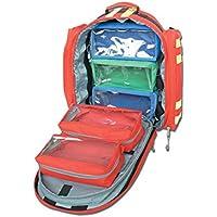 Mochila GIMA Logic-1 40 cm de largo x 20 cm de ancho x 47 cm de alto, rojo, emergencia, trauma, rescate, médico, primeros auxilios, enfermera, bolsa de bolsillo paramédico