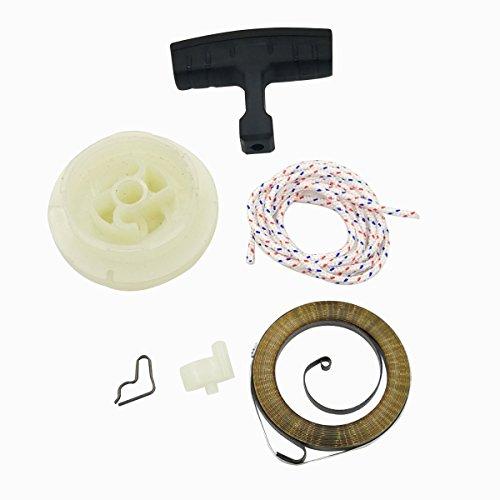 Cancanle Recoil Starter Riemenscheibe Griff Grip Seil Spring Sperrstück Kit für Husqvarna FC55FS38FS45FS55HL45KM55mm55Motor -