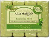 A LA MAISON BAR SOAP,RSMRY MINT,VALUE, 4...