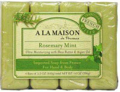 Seife Rosemary Mint (A La Maison Bar Soap - Rosemary Mint - Value 4 Pack by A La Maison)