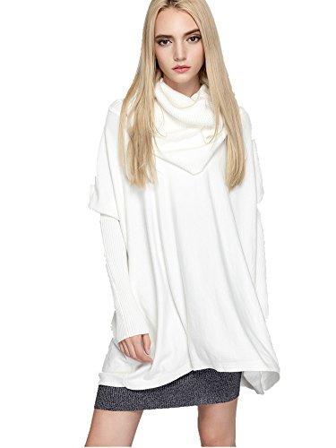 Charmly - Jerséi - Manga Larga - para mujer blanco blanco Talla única