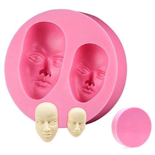 3D Gesichts-Kuchen-Form Gesichts Kopf Menschliches Silikon Icing Sugar Fimo Schokolade