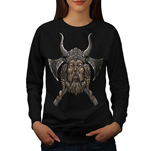Wikinger Helm Axt Frau S Sweatshirt | Wellcoda