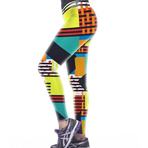 Belsen Damen Leggings mehrfarbig tiger M Striped color
