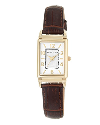 anne-klein-womens-elizabeth-quartz-watch-with-white-dial-analogue-display-and-brown-leather-strap-ak