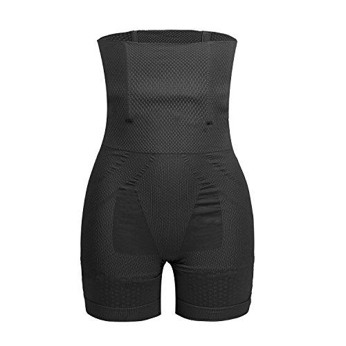 Libella Damen figurformend Miederhose Miederpants Shapewear mit stabilen Stäbchen Bauch-weg-Effekt Bodylifting 3604 Schwarz