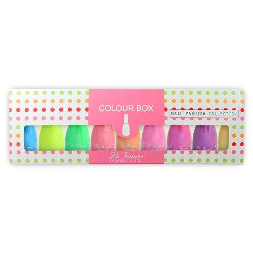 La Femme - Nail Paint/Varnish - 9 Colour Set