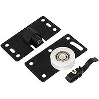 Sourcingmap-30mm Blanco Rueda placa de metal Home armario armario puerta corredera ruedas 2pcs