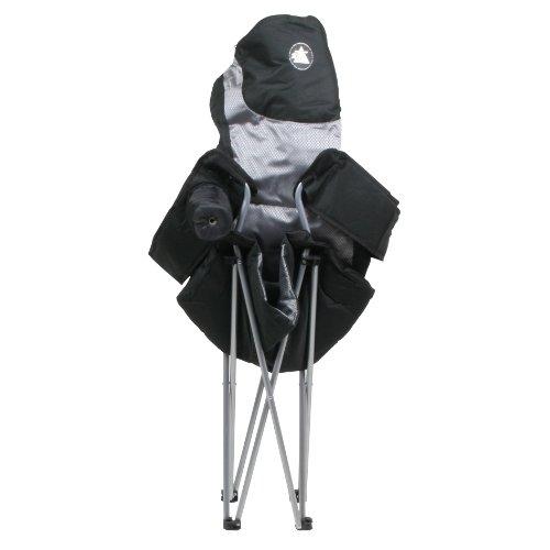 10T Lightboy - Faltbarer XXL Camping-Stuhl mobiler Hochlehner Maxi Polster-Sitzfläche Getränkehalter - 11