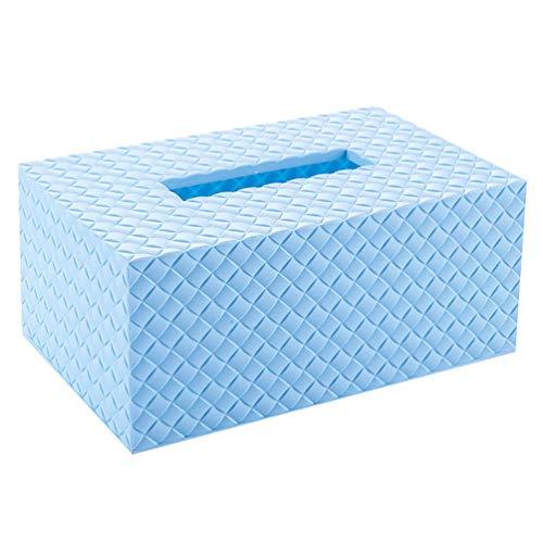 bismarckbeer Präzise eckig Auto Tissue Box Halter Home Office Dekoration, Plastik, blau, Einheitsgröße