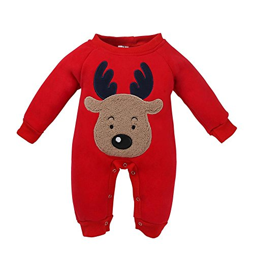 Domybest Tutina Neonato Invernale con Modello di Cervo Abbigliamento Bambino Carino di Cotone