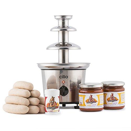 Bratwursthaus Currywurstbrunnen Set mit Wurst und Sauce