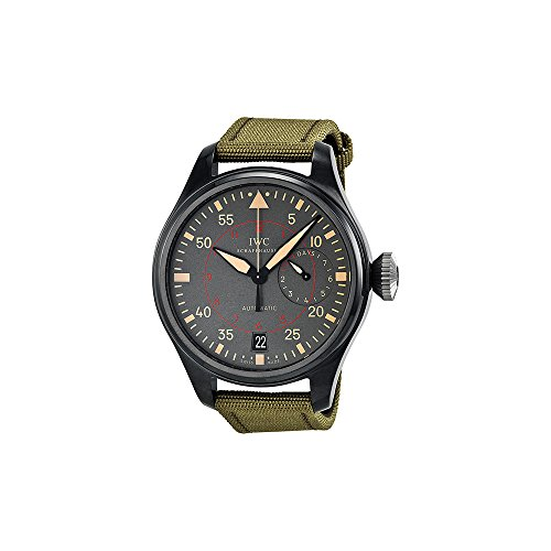 iwc-mens-big-pilots-top-gun-miramar-48mm-green-cloth-band-ceramic-case-automatic-grey-dial-watch-iw5