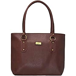 Typify Women's Leatherette PU Handbag (Tan,TBAG272)