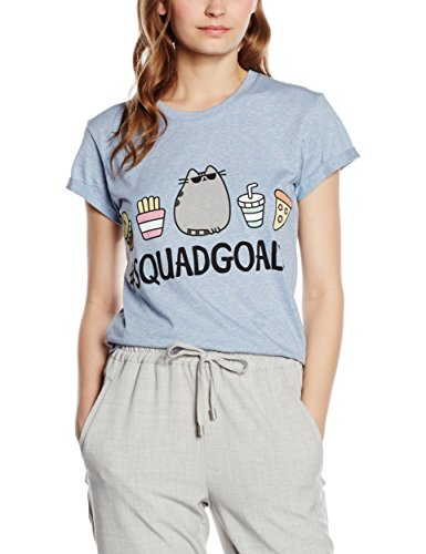 Plastic Head Pusheen Squad Goals Grst, T-Shirt Donna, Blu, 38