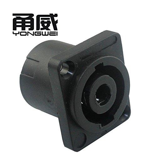 Audiokabel und Adapter, Yong Wei Vier-Core-Lautsprecher Audio-Profi-Buchse weibliche Basis 4-Pin-Audio-Line-Anschluss Verstärker-Karte landwirtschaftlichen Kopf Ohm-Stecker -