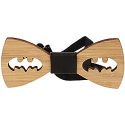 Vikings Pajarita Madera Batman Woody