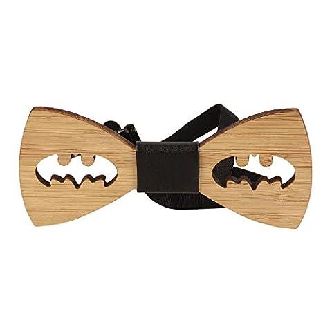 Snobbop Bow Tie Woody Batman Bamboo Wood Hook