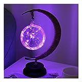 XIAOXINYUAN Kreatives Kugel-Handgemachtes Hanf-Seil-Eisen-Kunst-Geführte Nachttischlampe Vierfarben-Schlaf-Nachtlicht-Ausgangsdekor