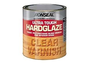 Ronseal UTVHG250250ml vernis brillant Ultra résistant pour bois d'intérieur Transparent