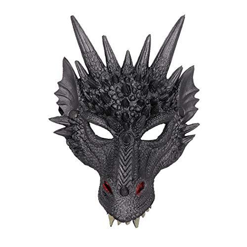 Drachen Kostüm Halloween - Kapmore Halloween Maske 3D Drache Cosplay