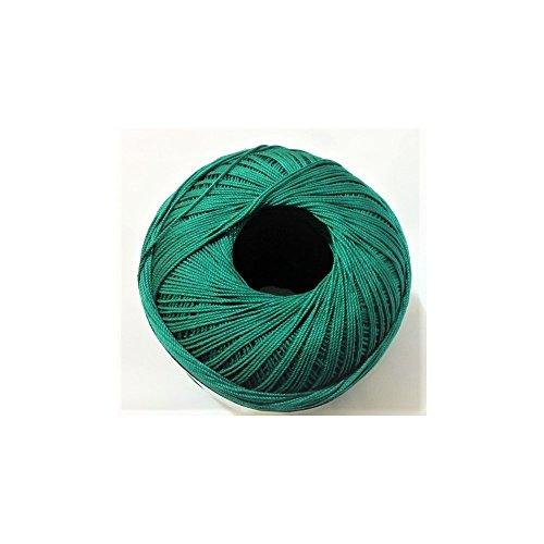 Tomaselli merceria cotone filo di scozia per uncinetto numero 5 gomitolo da 100 grammi - verde bottiglia