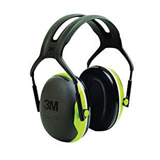 3M Peltor Earmuffs X4A with Headband, 33 dB, Green – Reliable protection against medium levels of noise in industrial settings - 1x Peltor ear defender