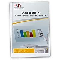 R & B overhea Dink–Láminas, overheadfolien DIN A4, 100micras para impresora de inyección de tinta, 50unidades)