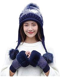 1524f39480a2 Stillshine Madame Bonnet tricoté Épais d hiver pour Garder au Chaud avec  Cache-Oreilles