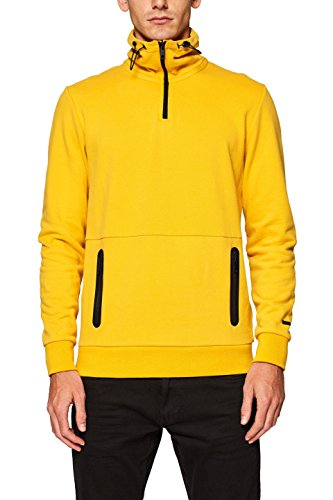 edc by Esprit 098cc2j003, Sudadera Hombre, Amarillo (Brass Yellow 720), Large