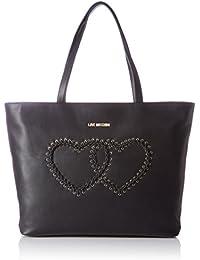 Love Moschino - Borsa Calf Pu Nero, Bolsos totes Mujer, Schwarz (Black), 31x45x12 cm (W x H D)
