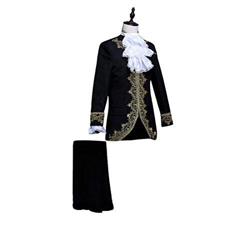 Nuoqi Prinz Herren Renaissance mittelalterliche Cosplay Kostüm Erwachsene (XL, CC2628B-NI)