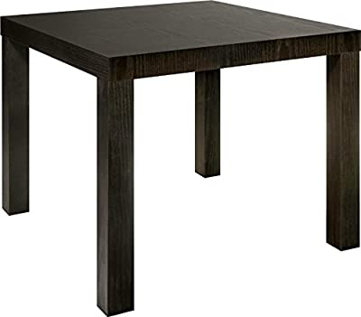 FurnitureR Side Table Solid Wood End Table Small Coffee Table-Black/Brown produced by FurnitureR - quick delivery from UK.