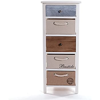 shabby chic schubladenschrank kult 91 cm vintage look kommode flurschrank mit 5. Black Bedroom Furniture Sets. Home Design Ideas