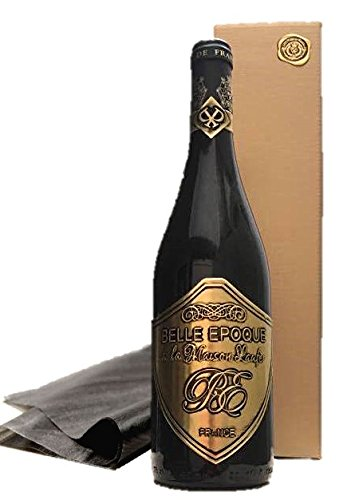 Luxus-Geschenk-fr-Bordeaux-Liebhaber-Rotwein-Belle-Epoque–la-Maison-Laufr-im-Eichenholzfass-gereift-in-Geschenkverpackung-gold-fr-verwhnte-Weinkenner-Geburtstag-Kundengeschenk-Geschenkset-Frankreich-