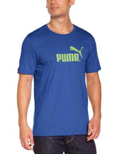 PUMA Herren T-Shirt Large No.1 Logo Tee mazarine blue