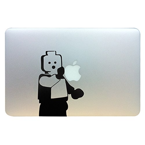 MacBook Aufkleber, Chickwin Creative Pattern dekorativ Film Notebook Sticker Skin personalisierte Aufkleber MacBook Decal (13.3/15.4/17 Zoll) (Holz Mann) (Los Angeles 17 Notebook)