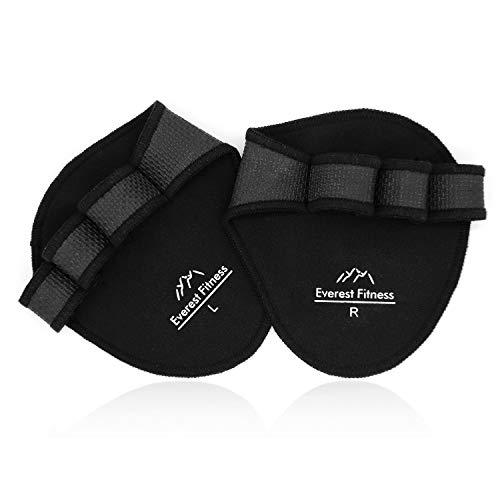 EVEREST FITNESS 1 Paar Profi-Griffpolster für Hanteltraining, Klimmzüge und Gewichtheben in schwarz | Grip-Pads, Trainingshandschuhe, Grip-Polster, Hand-Guard, Palm-Protector