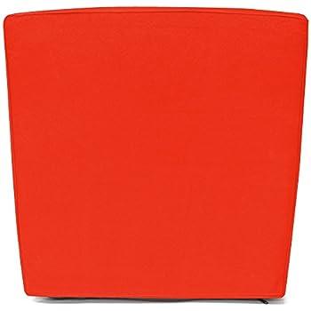 8 Housses de siège coussins de chaise - Orange - Pour salon de ...
