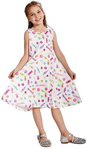 Chiolife Kleinkind Kind Baby Girls ärmellose Süßigkeiten Gedruckt Kleid Party Brautkleider für...